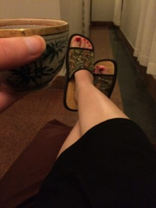 Tea and Slippers at the Spa